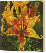 Golden Beauties Wood Print