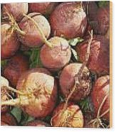 Golden Beets Wood Print