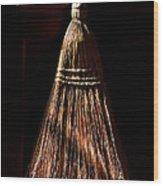 Golden Broom Wood Print