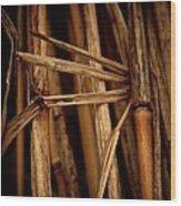 Golden Brown Wood Print by Odd Jeppesen