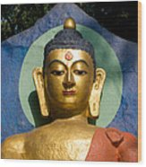 Golden Buddha Wood Print by Nila Newsom
