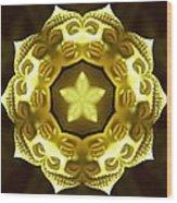 Golden Buddha Star Wood Print