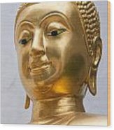 Golden Buddha Statue Wood Print by Antony McAulay