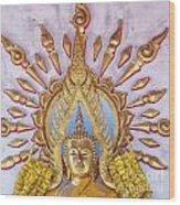 Golden Buddha Statue Wood Print