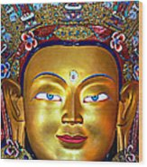 Golden Buddha Wood Print
