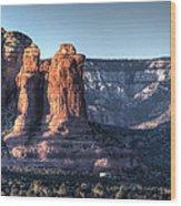 Golden Buttes Wood Print