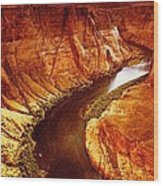 Golden Canyon Wood Print