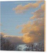 Golden Cascade Wood Print
