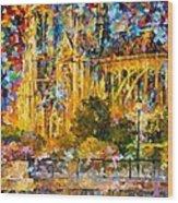 Golden Castle Wood Print