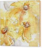 Golden Clematis 2 Wood Print