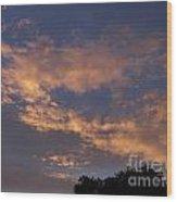 Golden Cloud Sunset Wood Print