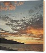 Golden Clouds At Grand Anse Wood Print
