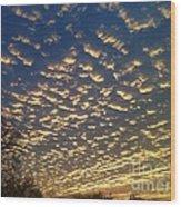 Golden Clouds Wood Print