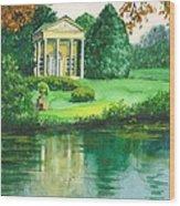 Golden Cottage Wood Print