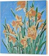 Golden Daffodils Wood Print