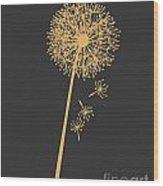 Golden Dandelion Wood Print