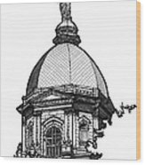 Golden Dome Wood Print by Calvin Durham