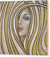 Golden Dream 060809 Wood Print by Selena Boron
