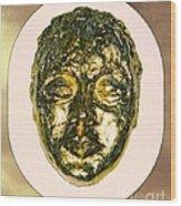 Golden Face From Degas Dancer Wood Print