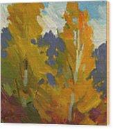 Golden Fall Wood Print
