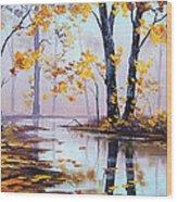 Golden Fall Wood Print by Graham Gercken