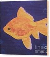 Golden Fish Wood Print