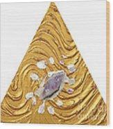 Golden Flow Creator Wood Print