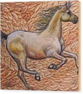 Golden Gallop Wood Print