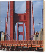 Golden Gate Bridge Wood Print by Adam Romanowicz