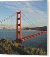 Golden Gate At Sunset Wood Print
