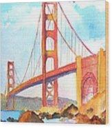 Golden Gate Bridge 3 Wood Print