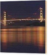 Golden Gate Bridge After Dark Wood Print