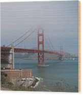 Golden Gate Bridge And Fort Point Wood Print