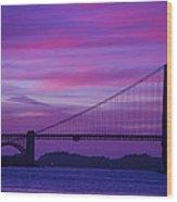 Golden Gate Bridge At Twilight Wood Print
