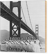 Golden Gate Bridge Ballet Wood Print