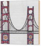 Golden Gate Bridge By Flower Child Wood Print