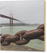 Golden Gate Bridge Chain Wood Print