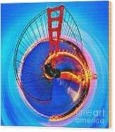 Golden Gate Bridge Circagraph Wood Print