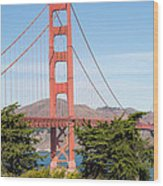 Golden Gate Bridge In San Francisco Wood Print