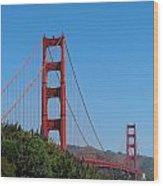 Golden Gate Bridge In Spring Wood Print