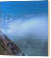 Golden Gate Bridge In The Fog Wood Print