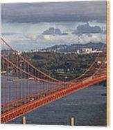 Golden Gate Bridge Overlook Wood Print