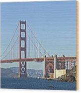 Golden Gate Bridge Panoramic Wood Print by Melanie Viola