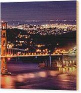 Golden Gate Bridge Wood Print by Robert Rus