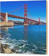 Golden Gate Bridge San Francisco Bay Wood Print