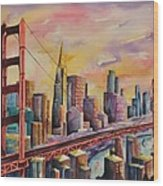 Golden Gate Bridge - San Francisco Wood Print