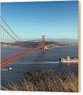 Golden Gate Bridge Scenic View In San Francisco Wood Print