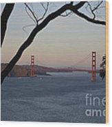 Golden Gate Bridge - San Francisco California Wood Print