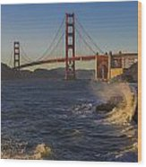 Golden Gate Bridge Sunset Study 2 Wood Print