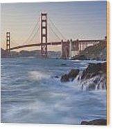 Golden Gate Bridge Sunset Study 5 Wood Print